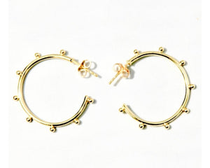 Small Hoops with Gold Studs