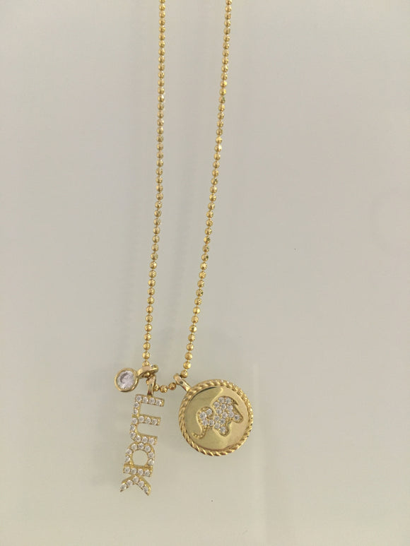 LUCK CZ Charms Necklace