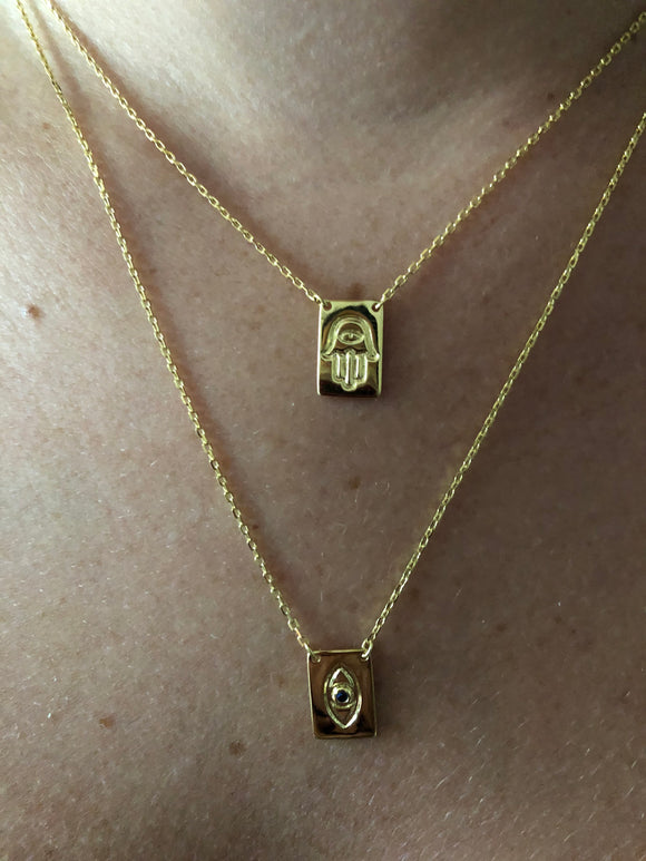 Front to Back, Hamsa & Evil Eye