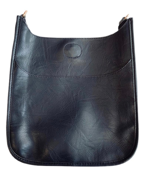 VEGAN Leather Classic Messenger- NO STRAP ATTACHED