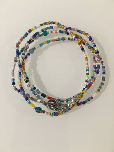 Multicolored Seed Beads Mask Chain