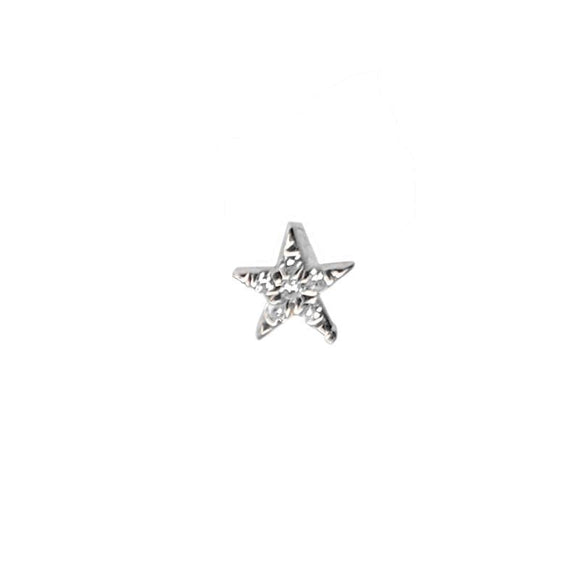 Micro Diamond Star Stud Earring