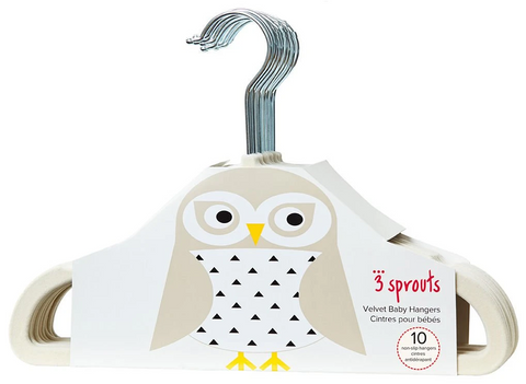 3 Sprouts Baby Hangers – Velvet Closet Clothes Organizers - Parent Decor
