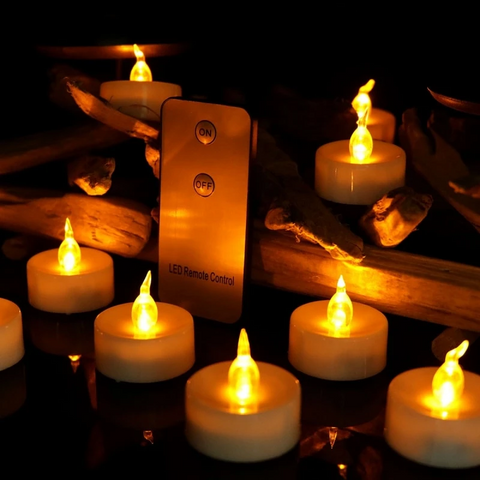 Remote Controlled Flame-less Flickering LED Candle Lights - Parent Decor