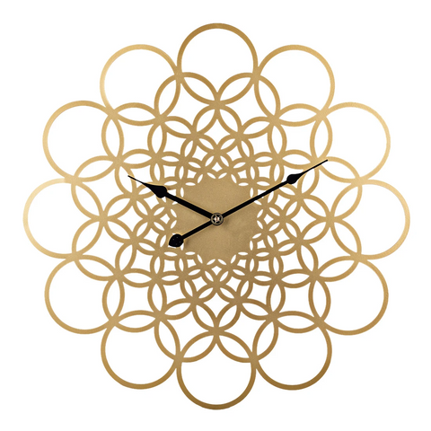Golden Multiple Annulus Wall Clock - Parent Decor