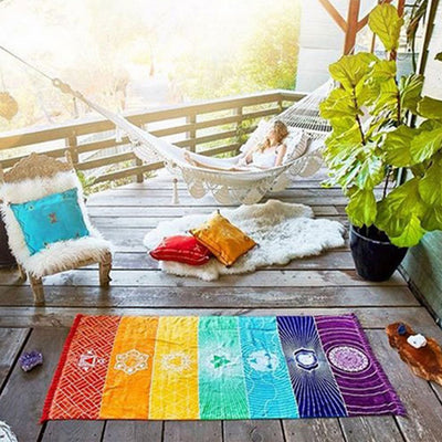 India Inspired Zen Rainbow Tapestry - Furnish Fresh Canada Home Furnishings & Great Deals.