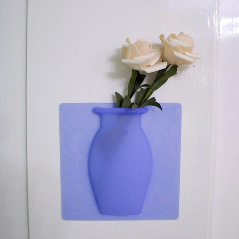 Stick on Wall Silicone Magic Flower Vase - Parent Decor