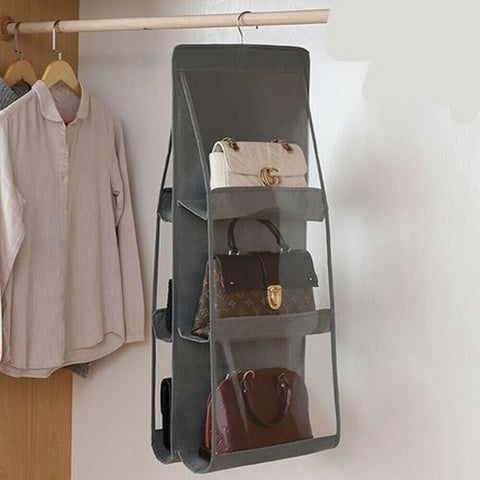 6 Pocket Anti-Dust Purse & Handbag Closet Storage Organizer - Parent Decor
