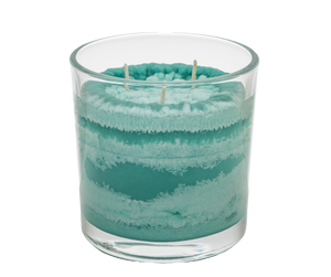 Coastal Mountain Mist Scented Candle, Vibrant Color, Angle Shot