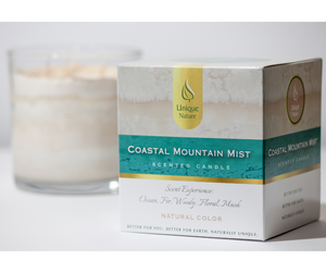 Coastal Mountain Mist Scented Candle, Natural Color, Box