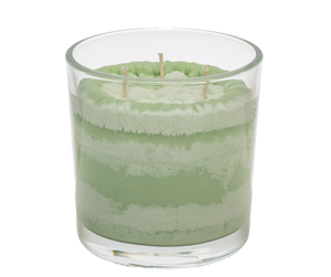 English Herb Garden Scented Candle, Vibrant Color, Angle Shot