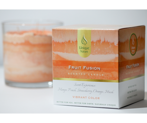 Fruit Fusion Scented Candle, Vibrant Color, Box