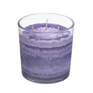 Iris Garden Sunrise Scented Candle, Vibrant Color, Angle Shot