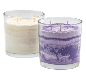 Iris Garden Sunrise Scented Candle in Vibrant and Natural Colors
