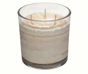 Ponderosa Pine Cone Scented Candle, Natural Color, Angle Shot