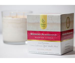 Weekend Rendezvous Scented Candle, Natural Color, Box
