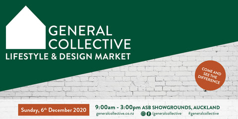 General Collective Lifestyle & Design Market | 6 December | ASB Showgrounds
