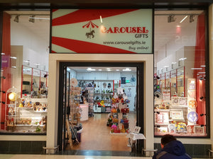 This is the image of Carousel Gifts physical shop a wonderland of gifts for all occasions, image show the shopfront as it appears in the Monread Centre in Naas