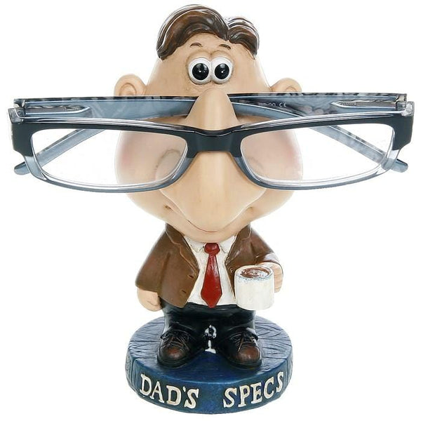 Novelty glasses holder, on a plinth saying Dad's Specs. Dad Gift Dad's Gift Fathers Day
