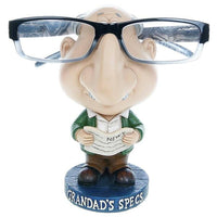 Novelty Grandad glasses/specs holder.  Standing on a plinth saying Grandad's Specs  Gift Fathers day gift spec holders