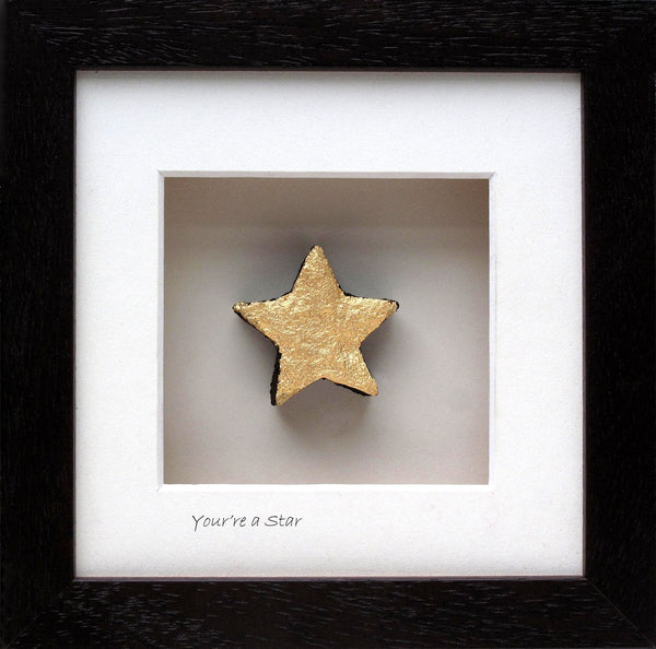 Bog buddies frame is a piece of bog shaped into a star handmade in Ireland