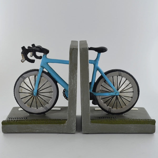 Bicycle bookends is in two parts One part has the front of the bike and the other has the back of the bike