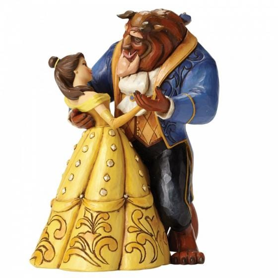 Scene from the Disney movie Beauty and the Beast, featuring Belle and Beast waltzing