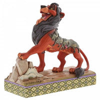 Disney figurine featuring the evil Scar preening from the Disney movie  The Lion King