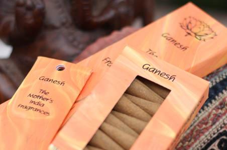 Burning Time 1& a half- 2 hours Comes in 12 different Fragrances. Incense sticks, no smokey residue. Ganesh comes in a light orange carton of 20 sticks of India Incense from Mother's fragrance