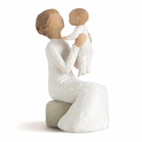 Willow Tree Grandmother is a figurine of a grandmother holding her grandchild