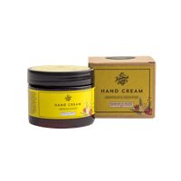 Picture shows a jar of hand cream with packaging. Fragrance is Lemongrass & Cedarwood. This product is made in Ireland from purely natural ingredients. Nourish and protects sensitive skin.