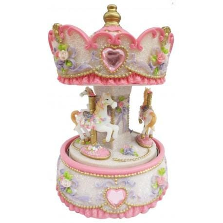 Carousel Pink with Hearts 170mm