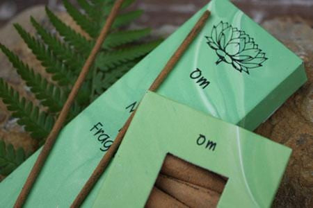 Burning Time 1& a half- 2 hours Comes in 12 different Fragrances. Incense sticks, no smokey residue. Om comes in a light green carton of 20 sticks of India Incense from Mother's fragrance