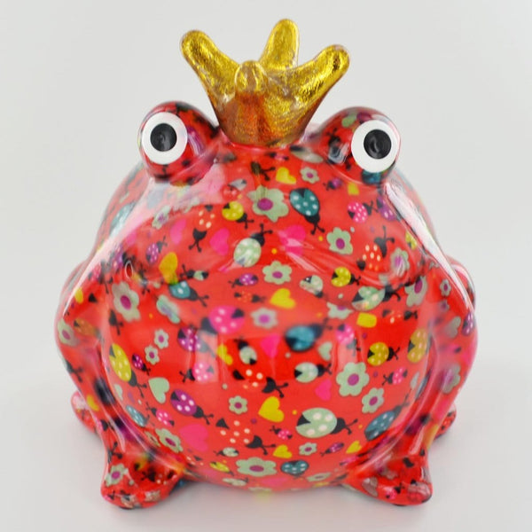 colourful money box of freddy the frog