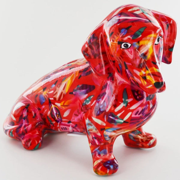 colourful moneybox of Molly Dachshund