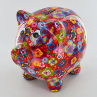 Pixie the pig money box assorted bright colours