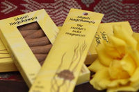 Burning Time 1& a half- 2 hours Comes in 12 different Fragrances. Incense sticks, no smokey residue.  Shanti Nagchampa comes in a yellow carton of 20 sticks of India Incense from Mother's fragrance. showing also cones