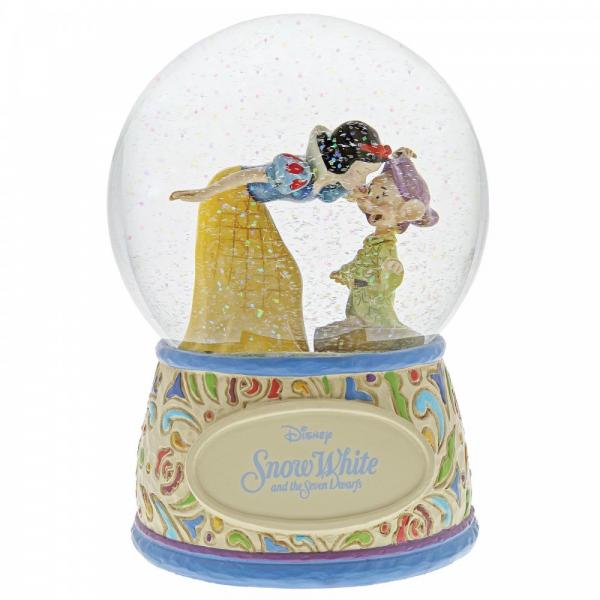 Snow White and Dopey in a Waterball Snow White is giving Dopey a kiss on the nose