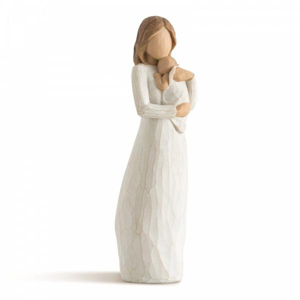 Willow Tree Angel of Mine Mother figurine holding her new born child