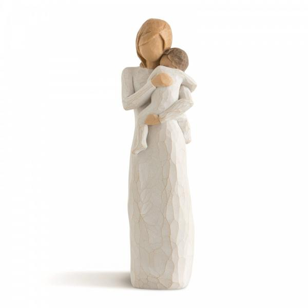 Willow tree Child of my heart A figurine of a mother or godmother hugging and holding a small child