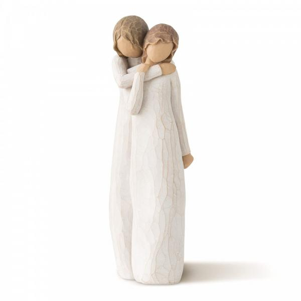 Willow Tree Chrysalis Mother and daughter figurine the mother is hugging her teenage daughter
