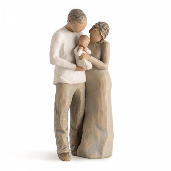 Willow Tree We are Three figurine  is a couple holding there new baby