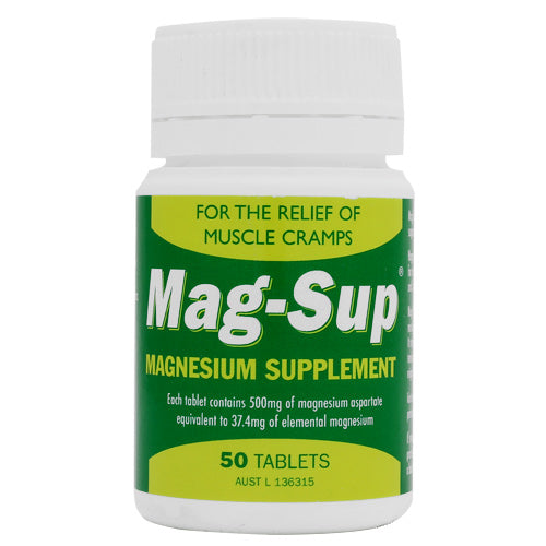 MAG-SUP Magnesium Supplement 500mg 50 Tablets
