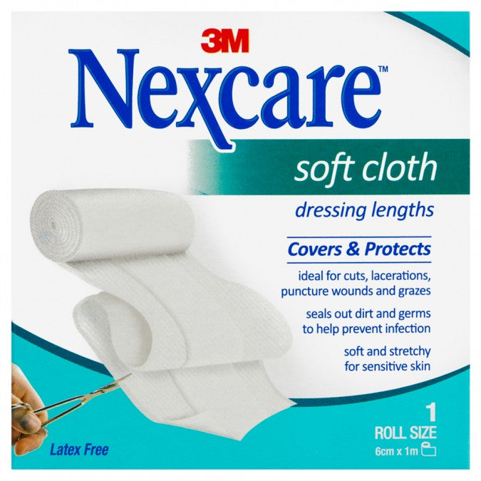 NEXCARE Soft Cloth Dressing Lengths Roll - 1m 1EA