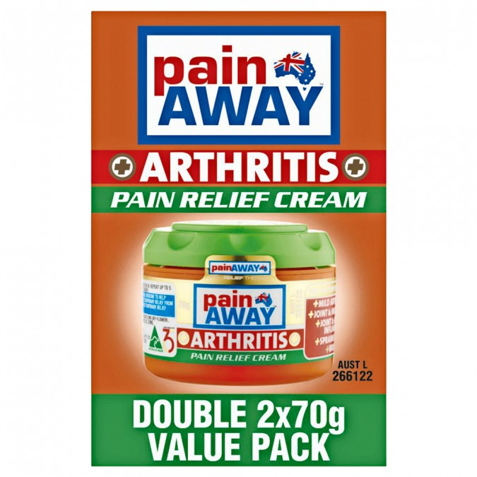 PAIN AWAY Arthritis Pain Relief Cream Value Pack 2x70g