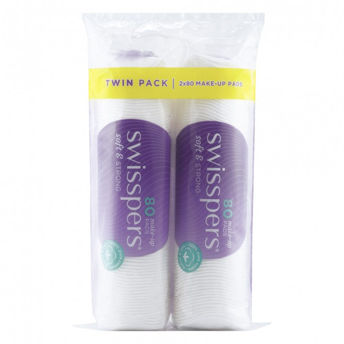 SWISSPERS Make-Up Pads Round Twin Pack 2x80 Pack