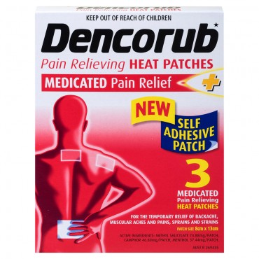 DENCORUB Self-Adhesive Heat Patches 3EA