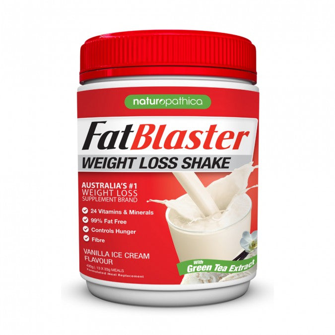 NATUROPATHICA FATBLASTER Weight Loss Shake - Vanilla Ice Cream Flavour 430g