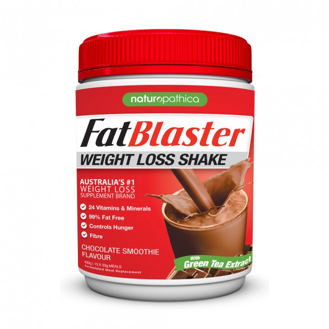NATUROPATHICA FATBLASTER Weight Loss Shake - Chocolate Smoothie Flavour 430g