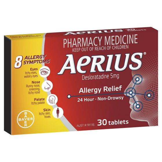 AERIUS Allergy Relief Antihistamine 30 Tablets
